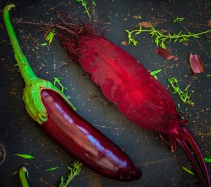 beet and eggplant