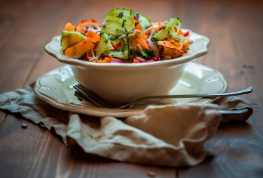salad with carrot and cucumber